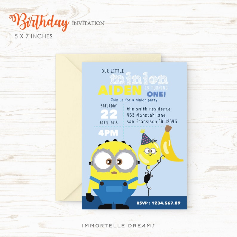 picture relating to Printable Minion Birthday Card identified as Minion Birthday Invitation, Minion Birthday Occasion, Minion Birthday Card // Printable