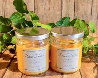 Peach Nectar - Soy Candle- Natural Candle