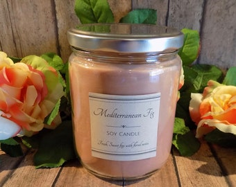 Mediterranean Fig - Soy Candle- Natural Candle