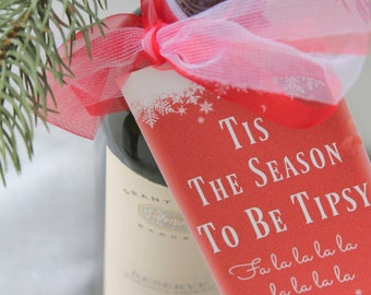 Christmas Printable Wine Bottle Tags