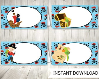 Pirate Party Food Labels, Instant Download Pirate Decor