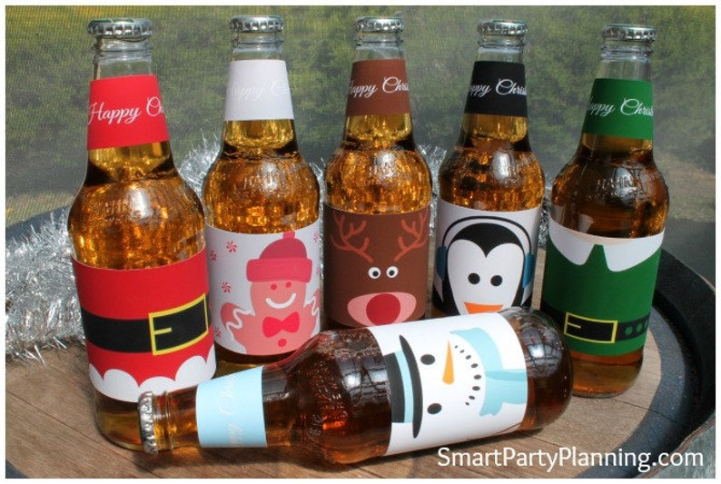 image regarding Printable Beer Labels identified as Xmas Printable Beer Labels, Lovely Identity Style