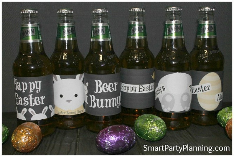 photo about Printable Beer Labels named Easter Beer Labels / Printable Labels