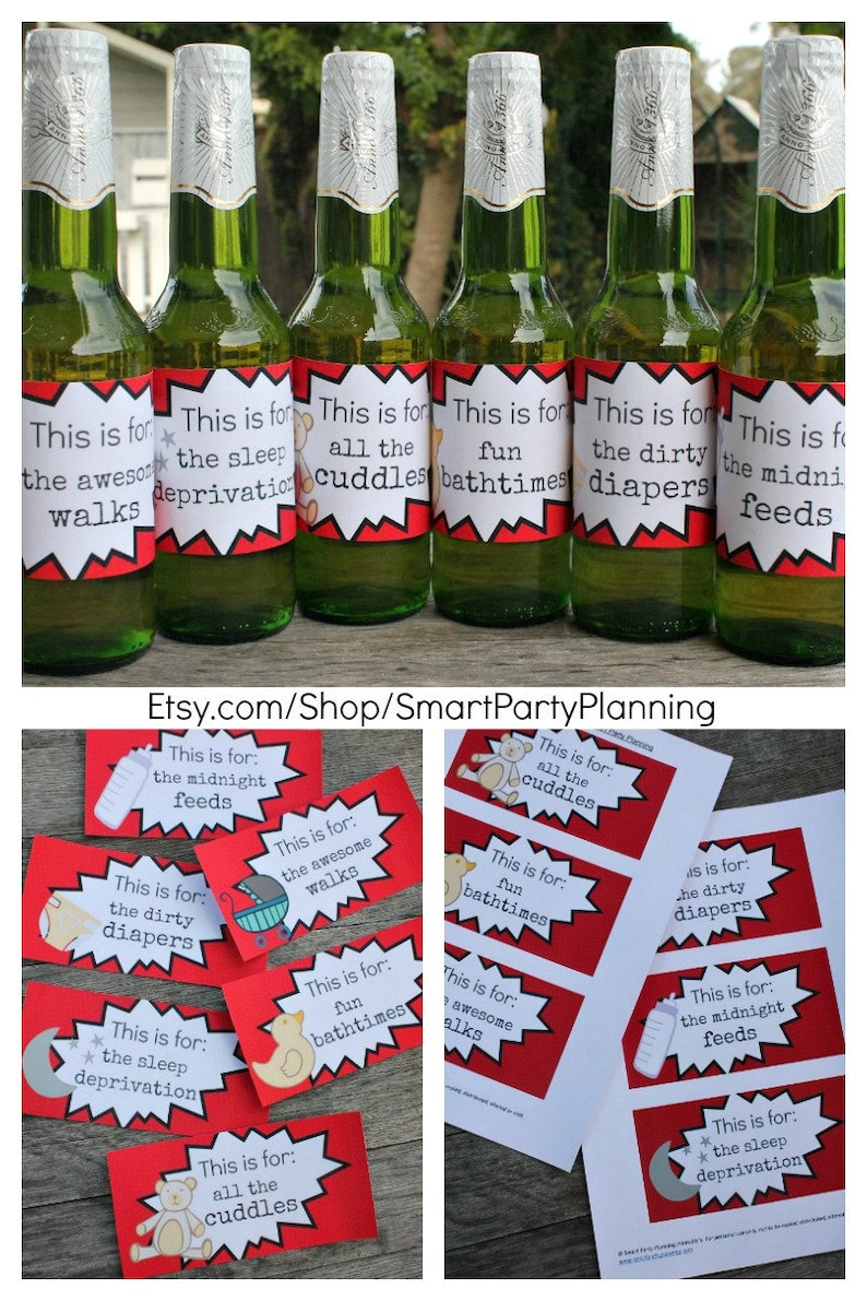 photo about Printable Beer Labels named Refreshing Father Reward / Printable Beer Labels