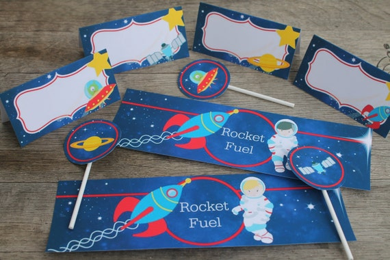 Outer Space Printables / Space Party / Party Printable Set