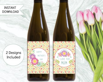 Wine Gift For Mum, Mother's Day Gift, Printable Instant Download