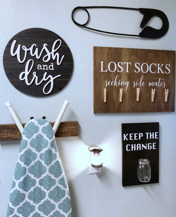 Keep The Change Laundry Room Sign Farmhouse Sign Wood Sign Etsy