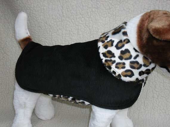 Luxury Leopard Fur Trim Dog Puppy Coat Jacket Etsy