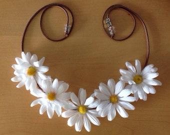 White Daisy Flower Halo// Flower Crown// EDM/ Rave/ Ultra// Fashion week