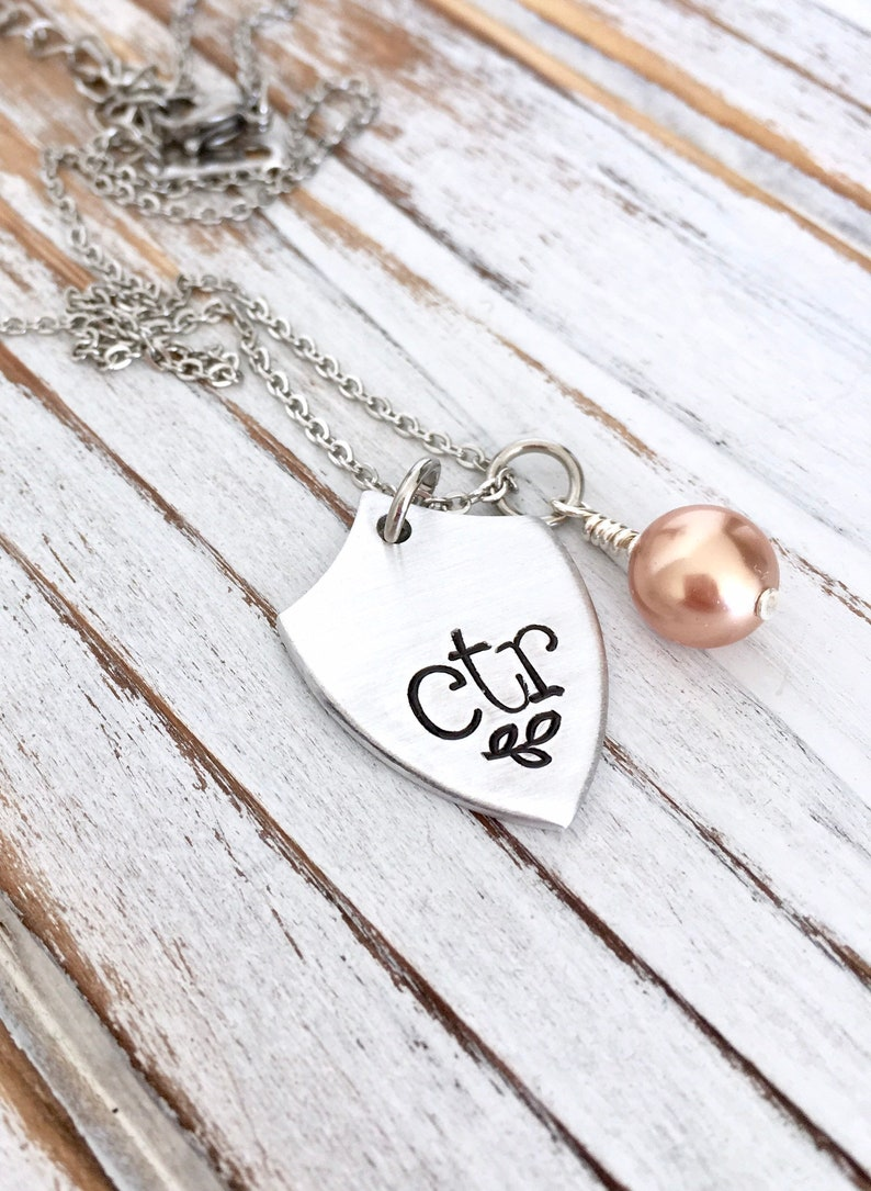CTR Shield Pendant Choose The Right LDS Mormon Missionary Necklace