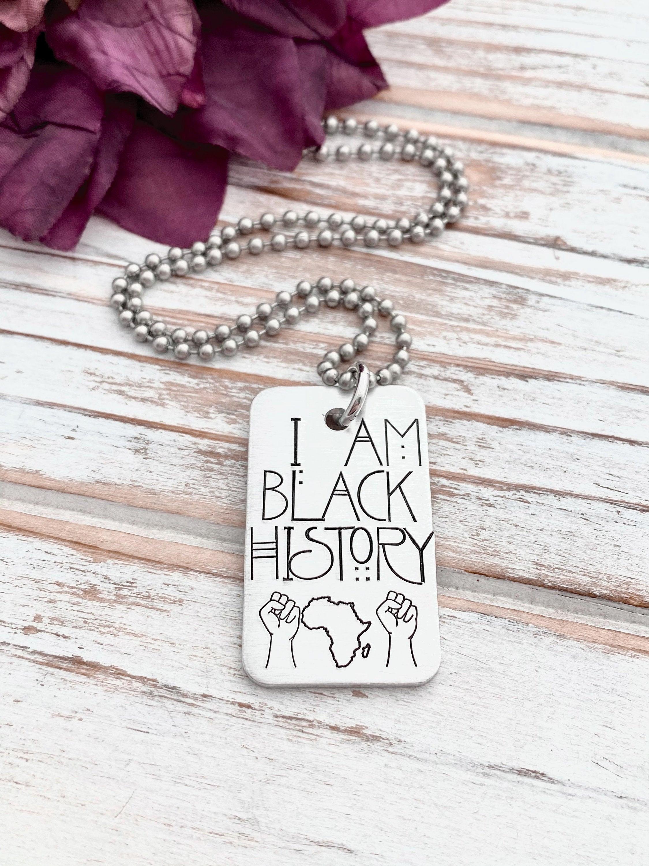 I Am Black History Empowerment BLM Africa Fist Men Women