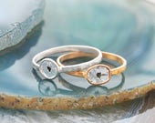 Diamond Rings, Raw Diamond Rings, Stackable Diamond Rings, Natural Diamond Ring, Anniversary Rings, Rose Gold Diamond Rings, Gifts for her