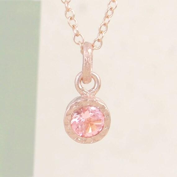 191b70363022 Erröten rosa Turmalin, Turmalinanhänger, Rose Gold Halskette, Turmalin, Rose  Gold-Anhänger, Rosa Stein, Rose Gold-Edelstein