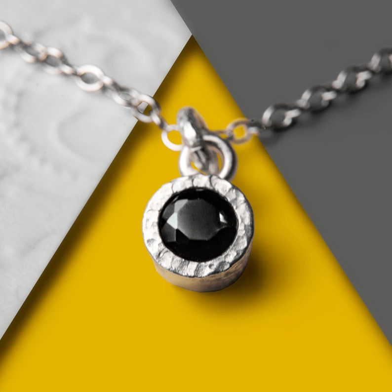Stud Earrings Round Studs Designer Gemstone Earrings Black Spinel Studs Simple Earrings Silver Studs Studs Silver Gemstone Studs 925