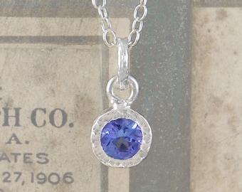 Tanzanite Pendant, Silver Necklace, Silver Gemstone Necklace, Precious Gemstone, December Birthstone, December Birthday Gift,Sterling Silver