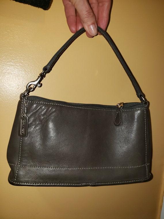 Vintage Coach 9311 sac petit sac à main en cuir gris foncé   Etsy
