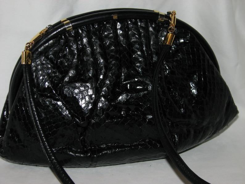 efe324c8450 Vintage GUCCI bag snakeskin purse reptile evening clutch