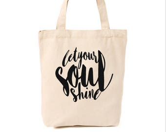 Market tote, canvas bag, reusable tote, soul shine, reusable canvas bag, tote bag, grocery bag