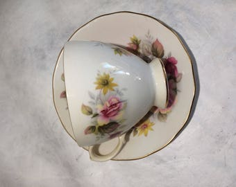 Queen Anne by Ridgeway Rose Teacup and Saucer