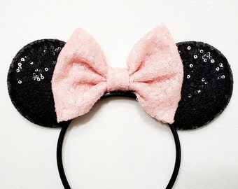 Black and Pink Minnie Mouse Ears
