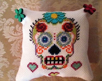 Mini Day of Dead Pillow/Pin Cushion