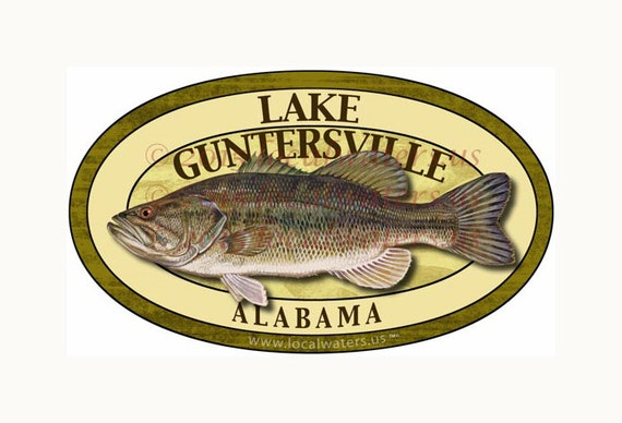 Lake Guntersville Sticker Largemouth Bass Fishing Decal GUARANTEED 3 years