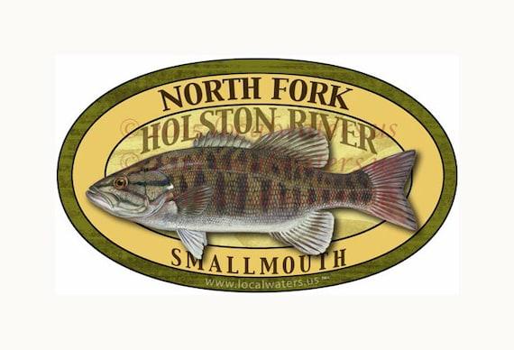 Center Hill Lake Sticker Smallmouth Bass DecalGUARANTEED 3 years no fade