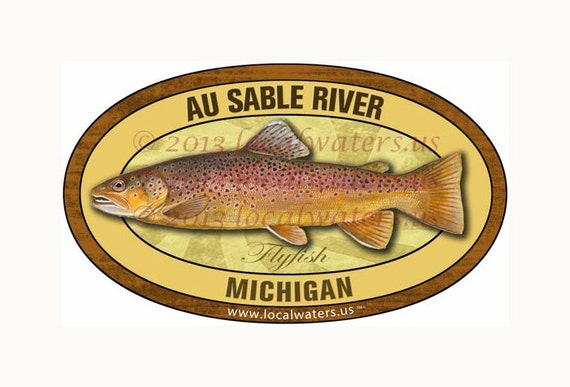 Yellowstone River Trout Sticker Fly Fishing DecalGUARANTEED 3 years