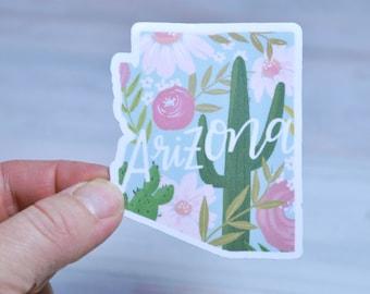 Arizona Vinyl Sticker Floral Waterproof Matte   Die Cut Decal Sticker   Laptop   Tumbler   Cup   Water Bottle   Tablet   Car Decal