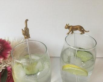 12 Pink UNICORN Cocktail Stirrers SWIZZLE Drinks Unicorn Party Pink Gin Tonic