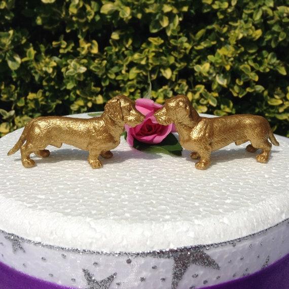 Dachshund Sausage Dog Wedding Cake Topper Two Dachshunds Hand Etsy