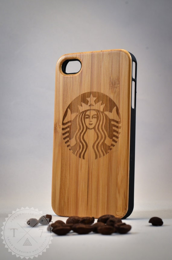 Wooden Starbucks iphone case