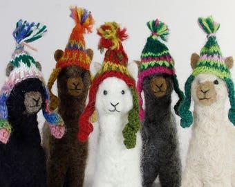 Needle Felted Alpaca Sculptures: Felted Animals by Hand in Alpaca Fiber