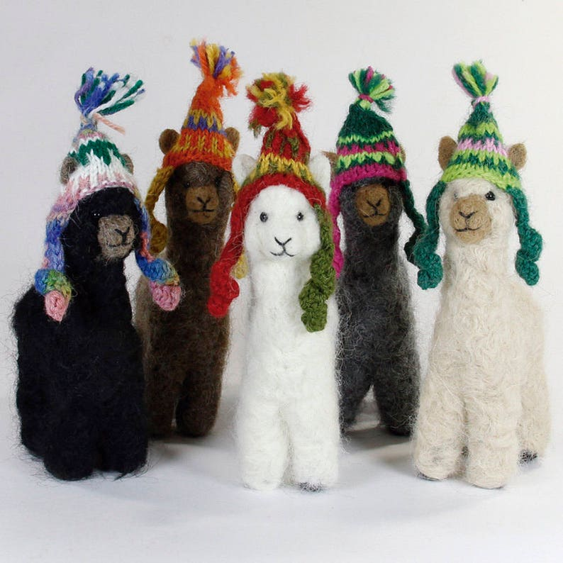 Needle Felted Alpaca Sculptures: Felted Animals by Hand in image 0