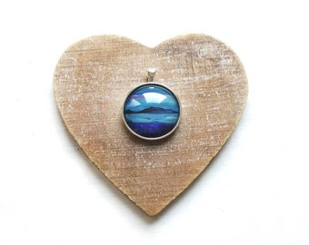 Evening tides, Coll pendant | Scottish Seascapes | Island art | handmade jewellery | artist made | Miriam Emerton | Ailleagan Art
