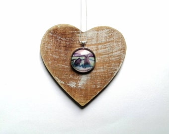 Waterhead stones pendant | Sunrise and Moonlight prints available | Scottish pendants | handmade jewellery | Miriam Emerton | Ailleagan Art