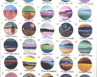 Custom order pendants | choose your own print design | 80+ designs to choose from | Scottish landscape & seascape jewellery | Ailleagan Art