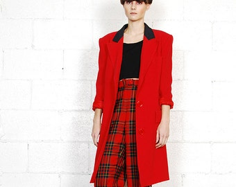 valentino red trenchcoat