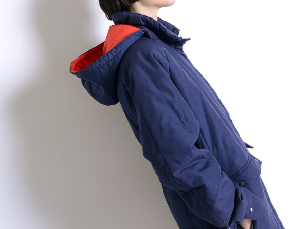sporty 80s hooded parka