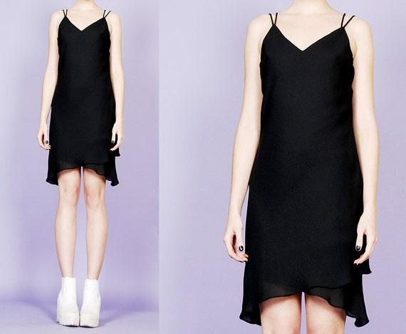 asymmetrical 90s slip dress - image 4