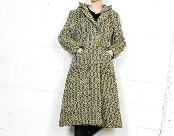 belted 60s statement coat