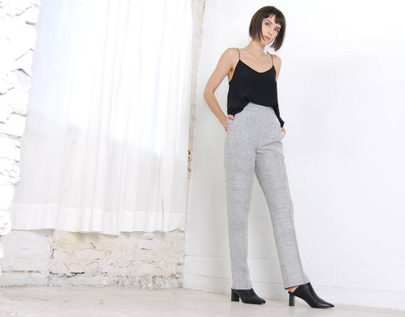 grey cigarette pants 28