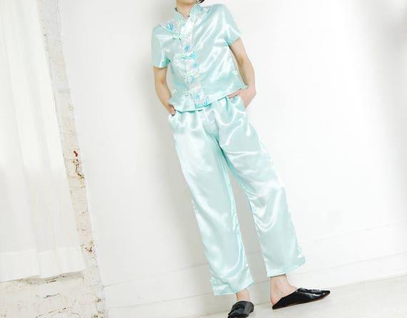 seafoam cheongsam pajama set