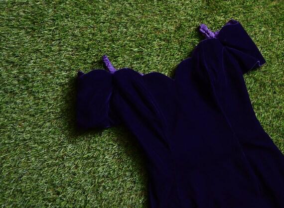 purple velvet 90s party dress