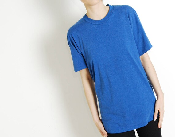 paper thin 70s 80s blue tee