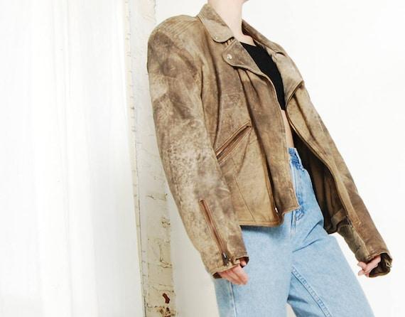 leather moto bomber jacket