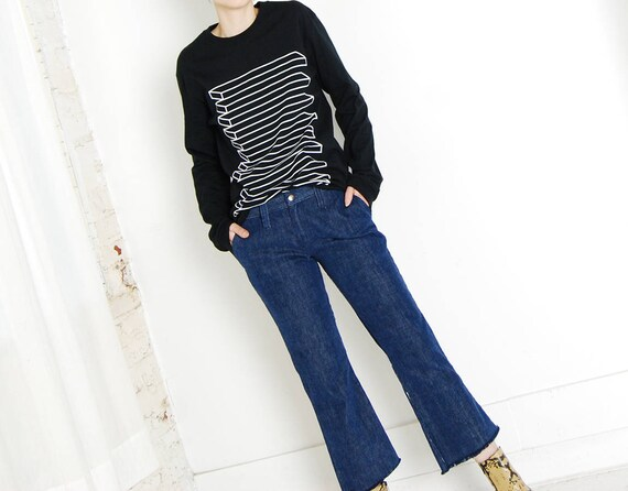 flared 70s wrangler cropped jeans
