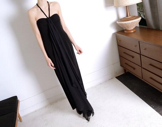 claude montana 90s sheer gown