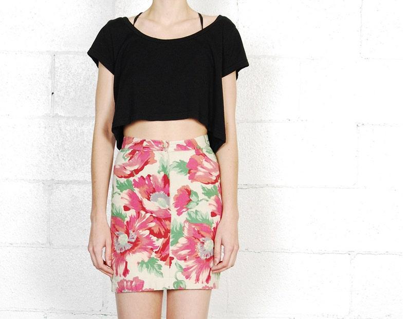 c096902d06 Kenzo 90s floral denim skirt xs | Etsy