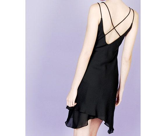 asymmetrical 90s slip dress - image 2